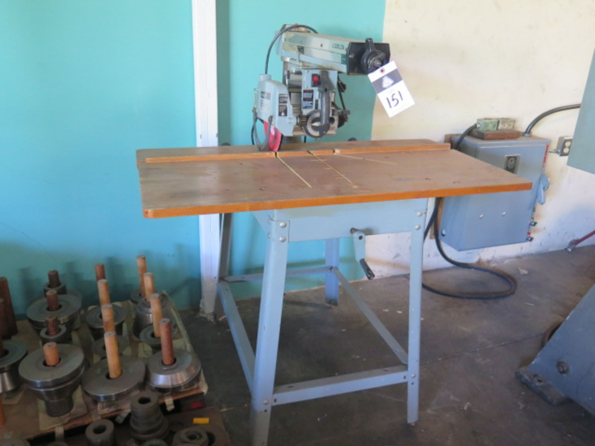 """Lot 151 - Delta 10"""" Radial Arm Saw w/ Stand (SOLD AS-IS - NO WARRANTY)"""