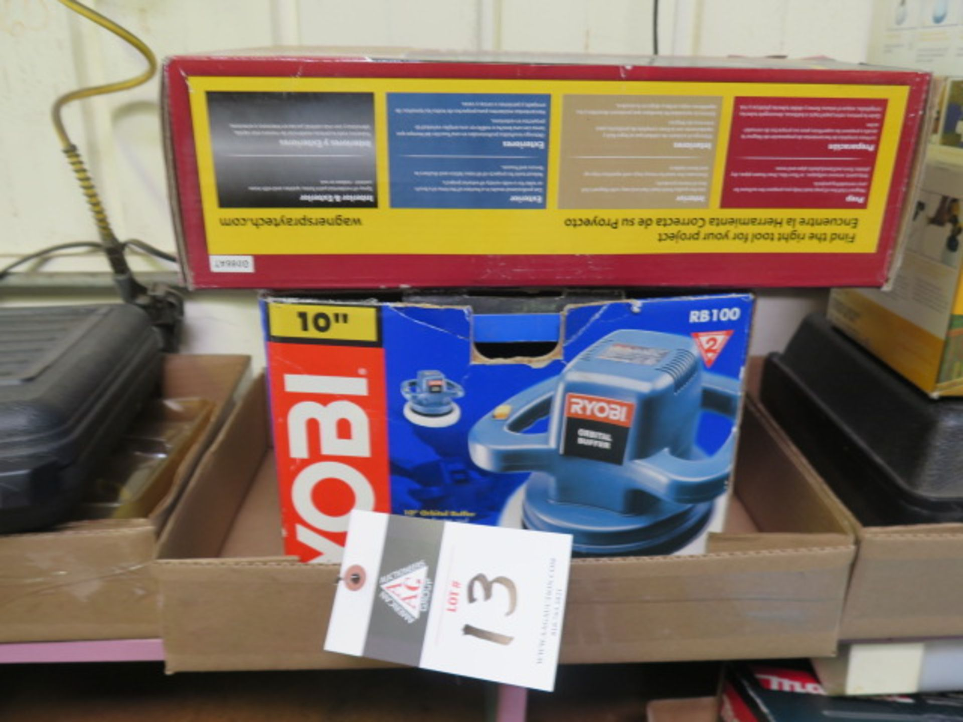 Lot 13 - Wagner Heat Tool Set and Ryobi Orbital Sander (SOLD AS-IS - NO WARRANTY)