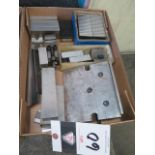 Magnetic Parallels and V-Blocks, Parallels and Angle Plate (SOLD AS-IS - NO WARRANTY)