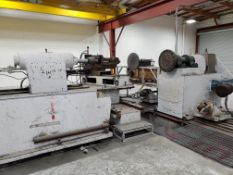 """MJC Engineering mdl. SP-50200 215"""" CNC Spin Lathe s/n 02-603 w/ Siemens Sinumeric CNC, SOLD AS IS"""