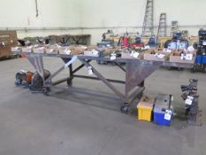 3' x 12' Rolling Table (SOLD AS-IS - NO WARRANTY)