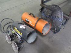 Propane Heaters and Shop Fan (SOLD AS-IS - NO WARRANTY)