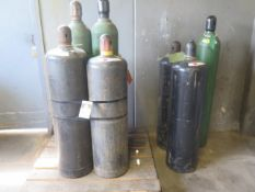 Oxygen and Acetelene Tanks (9) (SOLD AS-IS - NO WARRANTY)