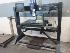MicroVu M24X18 Video Optical Comparator s/n 4417 w/ MicroVu 9050A Video Reticle, Surfac, SOLD AS IS
