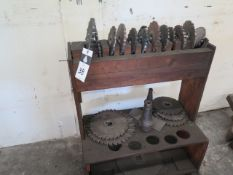 Mill Slot Cutters and Rack (SOLD AS-IS - NO WARRANTY)