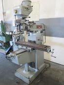 """Logan FT-1 Vertical Mill s/n 4727 w/ 55-2940 RPM, 8-Speeds, Chr Ways, 9"""" x 42"""" Table (SOLD AS-IS)"""