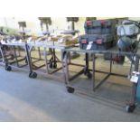 "36"" x 48"" Steel Rolling Tables (3) (SOLD AS-IS - NO WARRANTY)"