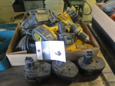 DeWalt Cordless (3) w/ Batteries and Chargers (SOLD AS-IS - NO WARRANTY)