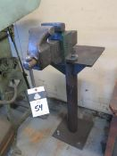 Pedestal Mounted Vise (SOLD AS-IS - NO WARRANTY)