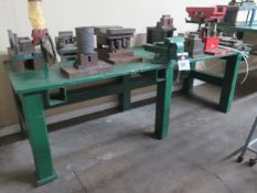 Bench Vise w/ Steel Work Bench (SOLD AS-IS - NO WARRANTY)