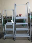 4' and 3' Stock Rool Ladders (2) (SOLD AS-IS - NO WARRANTY)