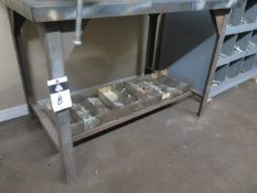 Misc Hardware and Steel Table (SOLD AS-IS - NO WARRANTY)