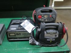 Battery Charger and Jump Starters (3) (SOLD AS-IS - NO WARRANTY)