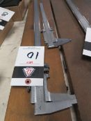"CSE 26"" and Starrett 14"" Vernier Calipers (2) (SOLD AS-IS - NO WARRANTY)"