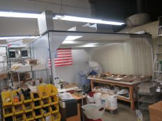 Clean Air Products md. CAP557F-WR-12X12X8H 12' x 12' Portable Clean Room s/n 11818-17230 SOLD AS IS