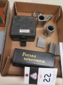 5C Collet Block Sets and Refractometer (SOLD AS-IS - NO WARRANTY)