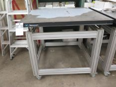 "Newport 39"" x 39"" Honeycomb Technical Lab Test Table w/ Wheels (SOLD AS-IS - NO WARRANTY)"