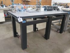"TMC 39"" x 78"" Honeycomb Technical Lab Test Table w/ Wheels (SOLD AS-IS - NO WARRANTY)"