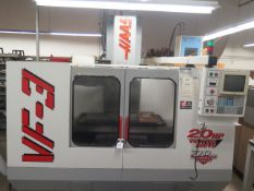 Dec-1997 Haas VF-3 4-Axis Ready CNC VMC s/n 12969 w/ Haas Controls, 20 ATC SOLD AS IS