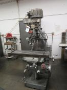 Tree 2UVR Vert Mill w/ 1.5Hp Motor, 60-3300 Dial Change RPM, Colleted Spindle, PF, SOLD AS IS