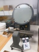 "MicroVu mdl. 400 10"" Table Model Optical Comparator s/n 6171 (SOLD AS-IS - NO WARRANTY)"