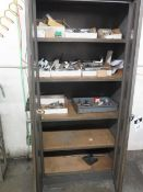 Storage Cabinets (2) and Shelf w/ Misc (SOLD AS-IS - NO WARRANTY)