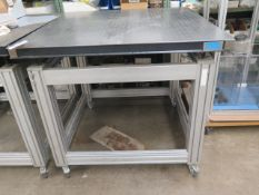"TMC 39"" x 39"" Honeycomb Technical Lab Test Table w/ Wheels (SOLD AS-IS - NO WARRANTY)"