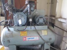 Ingersoll Rand Century II 15Hp Horizontal Air Compressor w/ 2-Stage Pump, 120 Gallon SOLD AS IS