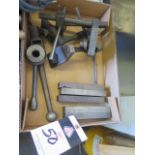 """6"""" Vise Hard Jaws, Vise Handles and Mill Stops (SOLD AS-IS - NO WARRANTY)"""
