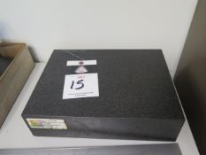 "8"" x 1`2"" x 3"" Granite Surface Plate (SOLD AS-IS - NO WARRANTY)"