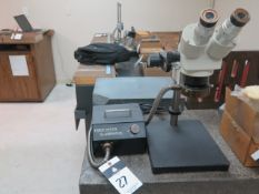 Stereo Microscope w/ Fiber Optic Light Source (SOLD AS-IS - NO WARRANTY)