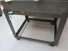 """30"""" x 36"""" x 6"""" Granite Surface Plate w/ Roll Stand (SOLD AS-IS - NO WARRANTY)"""