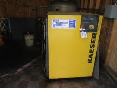 Kaeser SK26 20Hp Rotary Air Compressor s/n 1357 w/ Kaeser Controls, 2276 Run Hours, SOLD AS IS
