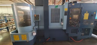 2000 Matsuura ES-450H II 5-Pallet CNC Horizontal Machining Center s/n 000313947 w/ Fanuc, SOLD AS IS