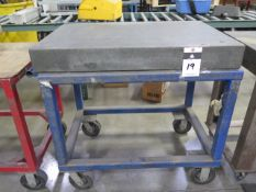 "Challenge 24"" x 36"" x 4"" Granite Surface Plate w/ Cart (SOLD AS-IS - NO WARRANTY)"