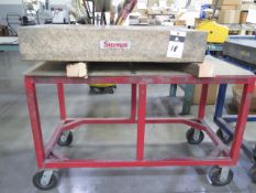 "Starrett Crystal Pink 24"" x 36"" x 6"" Granite Surface Plate w/ Cart (SOLD AS-IS - NO WARRANTY)"