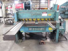 "Wysong mdl. 1052 10GA x 52"" Power Shear s/n P58-208 w/ 56"" Squaring Arm, Front Supports SOLD AS IS"