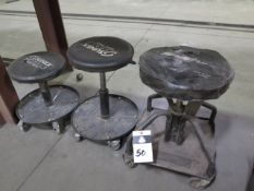 Rolling Shop Stools (3) (SOLD AS-IS - NO WATRRANTY)