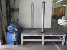 """Custom Hydraulic J-Flange Expander w/ 36"""" x 72"""" Table, Dies to 6"""" (SOLD AS-IS - NO WARRANTY)"""