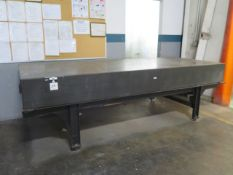"""48"""" x 120"""" x 12"""" Granite Surface Plate w/ Stand (SOLD AS-IS - NO WARRANTY)"""