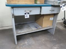 Table and Cart (SOLD AS-IS - NO WARRANTY)