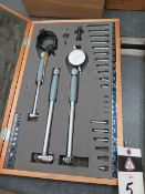 """Mitutoyo .7""""-4.0"""" Dial Bore Gage Set (SOLD AS-IS - NO WARRANTY)"""