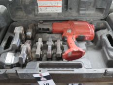 Rigid RP-320E Pressing Tool w/ (6) Pressing Die Heads, Battery (SOLD AS-IS - NO WARRANTY)
