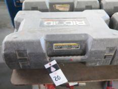 Rigid RP-320E Pressing Tool w/ (6) Pressing Die Heads (SOLD AS-IS - NO WARRANTY)