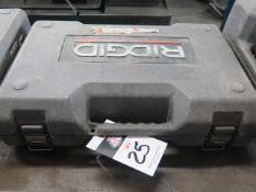 Rigid RP-200 Pressing Tool w/ (4) Pressing Die Heads (SOLD AS-IS - NO WARRANTY)