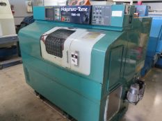 Nakamura Tome TMC-15 CNC Lathe s/n E02301 w/ Fanuc Controls, 10-Station Turret, 5C Coll, SOLD AS IS
