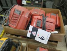 Assorted Hilti Batteries and Chargers (SOLD AS-IS - NO WARRANTY)