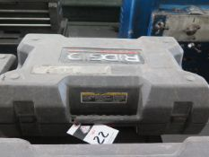 Rigid RP-320E Pressing Tool w/ (3) Pressing Die Heads, Battery (SOLD AS-IS - NO WARRANTY)
