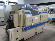 Miyano BND-34S2 4-Acis CNC Turning Center s/n BD30839S w/ Fanuc Series 0-T Controls, SOLD AS IS