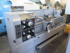 """Sharp 1760K 17"""" x 60"""" Geared Gap Bed Lathe s/n 725181 w/ 50-1800 RPM, Inch/mm Threading, SOLD AS IS"""